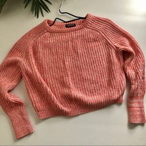American Apparel women's pink crop sweater size M